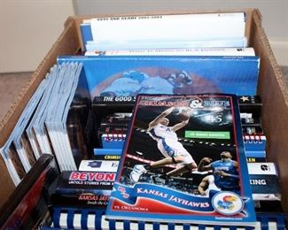 KU Fan Book Collection Including What It Means To Be A Jayhawk, A Year To Remember, Beyond The Streak, And More, Contents Of 2 Boxes