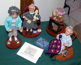 Nana's Family Figural Collection By Artist Annie Wahl/Richard Simmons, Some With Certificates Of Authenticity, Qty 11