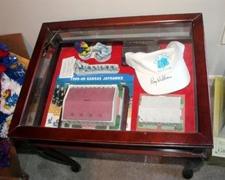 Collector's Display Case Containing Sports Collector's Guild Limited Edition Hand Finished Model Of Allen Fieldhouse With Removable Roof