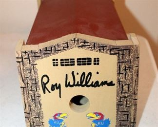 Allen Fieldhouse Birdhouse Signed By Roy Williams