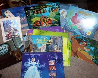 Walt Disney Commemorative Lithographs, Some New In Packaging, Qty 38, Includes Snow White, Beauty And The Beast, Bambi, Hercules And More