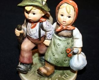 "M. J. Goebel Hummel Ceramic Figure ""Going Home"" # 383, 5.5"" Tall"