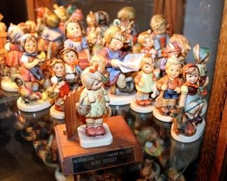 """M. J. Goebel Hummel Ceramic Figures Qty 16, Including Feeding Time #199/0, The Builder #305, Horse Trainer #423, What's New #413 & More, 3"""" - 4"""" Tall"""