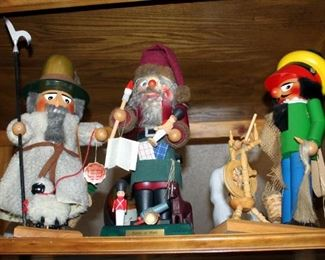 Steinbach Nutcracker Assortment, Including Santa At Work, Sheep Herder, And More