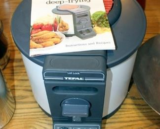 TFal Deep Fryer, Unknown Working Order, And Wok, With Strainer