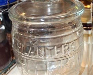 Planter's Peanut Glass Jar, Kitchen Decanters, Cookie Jars, Ceramic Bowls, Coffee Grinder, And Canisters With Locking Lids