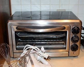 KitchenAid Toaster Oven, KitchenAid Hand Held Mixer With Accessories, And Osterizer Blender