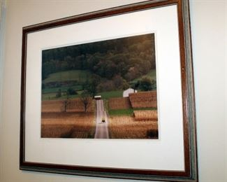 """Framed, Matted Under Glass, """"Amish No 371, Sunbeam"""" By Bill Coleman, Signed & Numbered 321/450, 22"""" x 26.5"""""""