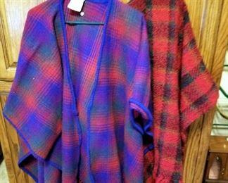 Boyne Valley Weavers 100% Wool Shawls, Qty 2, Handmade In Ireland
