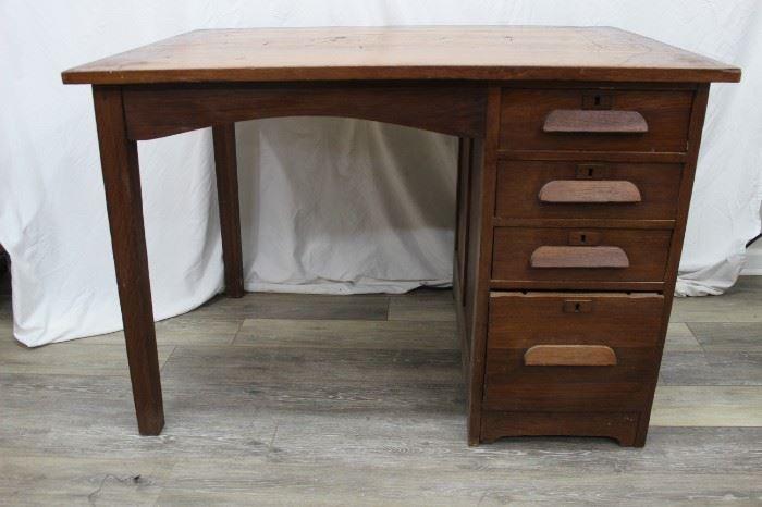 Vintage Wood Desk