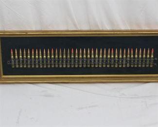 Machine Gun Bullet Display