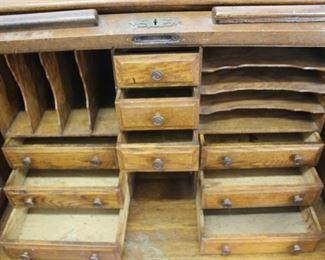 Antique Roll Top Desk Topper