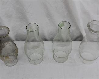 Glass Kerosene & Hurricane Lot
