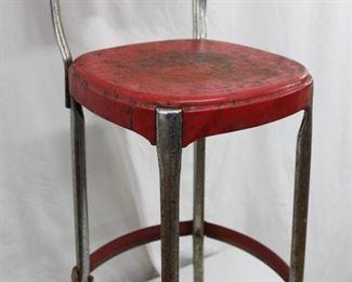 Metal Red Stool