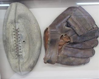 Vintage Sports Memorabilia Shadowbox