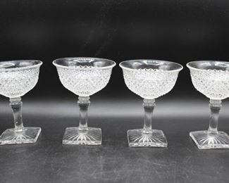Vintage Cut Glass Sorbet Glasses