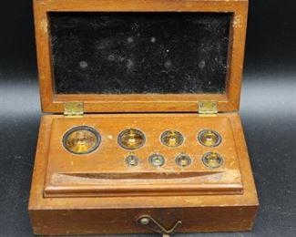 Antique Christian Becker Scale Weights