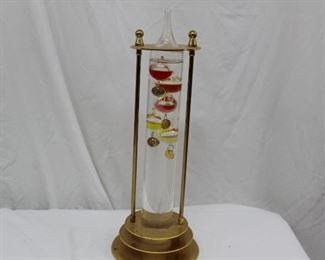 Galileo Thermometer and Vintage Decanter