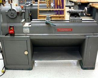 "Powermatic Wood Lathe, Model 90, With Lathe Milling Tools, 49"" x 68"" x 16.5"""