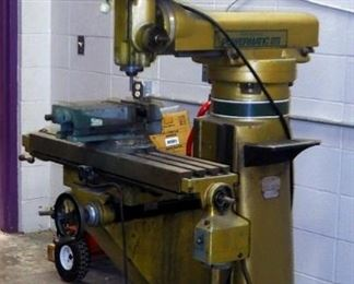 """Powermatic/Burke Model MVN, Vertical Millwright Machine, With 6.5"""" Stage Vice"""