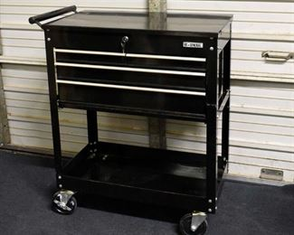 US General 4-Drawer Roll Cart with Keys