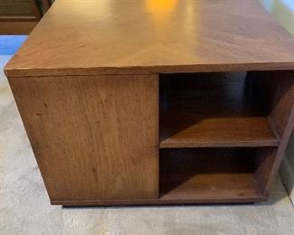 """Cube End Table 22"""" H by 28"""" W by 28"""" D $150"""