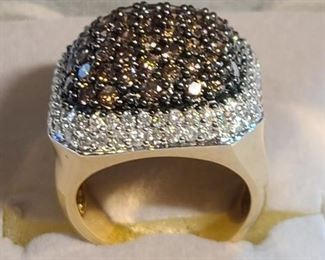 14k gold ring  with diamonds $850