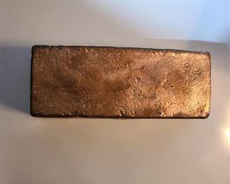 10 pounds copper bar $95