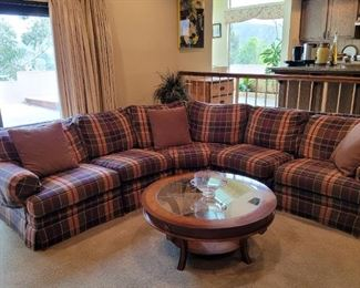 Like new large plaid sectional