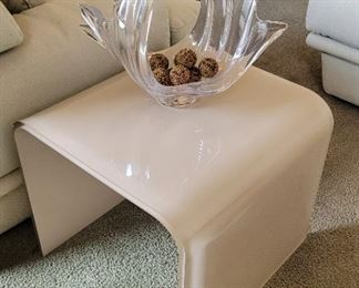 Glass contemporary side table