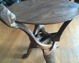 Small Wood Carved Table