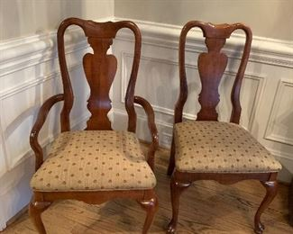 $440.00 Set of 8 Dining Room Chairs by American Drew - Cherry Grove Collection.   6 side chairs 39 h x 21 w x 18d....2 Arm Chairs 39 h x 21w x 18d
