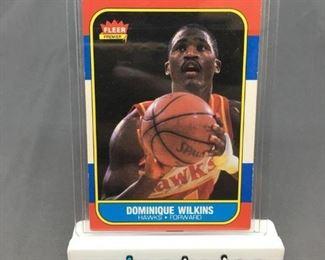 1986-87 Fleer #121 DOMINIQUE WILKINS Hawks ROOKIE Vintage Basketball Card