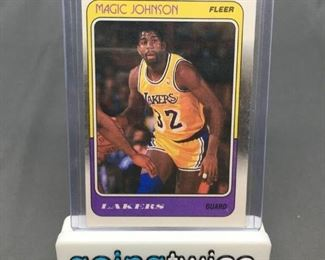 1988-89 Fleer #67 MAGIC JOHNSON Lakers Vintage Basketball Card