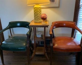 Pair of leather MCM office chairs