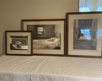 3 Andrew Wyeth Prints