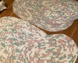 Light Colored Oval Braided Rugs