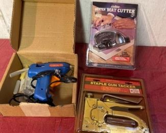 Stapler Glue Gun and Mat Cutter