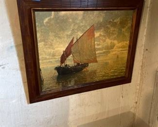 The Fisherman Vintage Painting