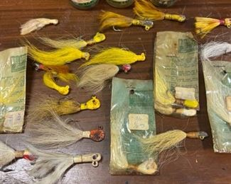 Vintage Bucktail Jigs and Uncle Josh Pork