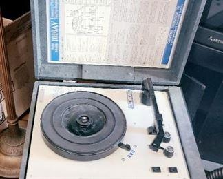 1 of 2 Vintage Portable turntable
