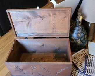 Vintage wooden storage box