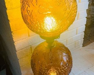 Double Amber Glass Lamp
