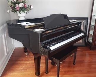 Weber baby grand piano w/ stool