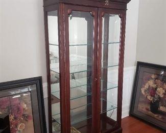 Jasper cabinets fine wood display cabinet w/ glass doors
