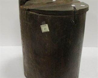 """PRIMITIVE WOOD BALLOT BOX MADE FROM A LOG. 22 3/8"""" TALL"""