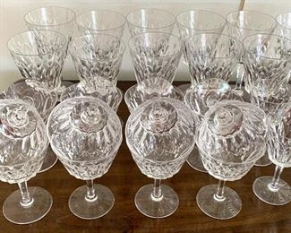 "Beautiful Stemware by Stuart   13- 6.5"" goblets  12- 4.75"" goblets  12- 5"" goblets"