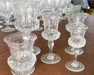 Antique Thomas Webb English Made Antique Engraved Glassware- Absolutely Beautiful!