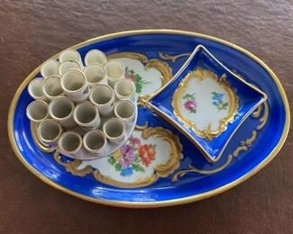 """Vintage Dresden Cigarette Holder and Ashtray. For the smoker in your life, a fun way to display cigarettes. Or for a non-smoker; a great conversation piece as people are sure to ask; """"what is that!?"""" In very good condition."""