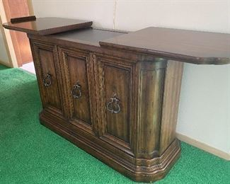 """Vintage Expandable Sideboard/Console by Heritage. Measures 47"""" L x 19"""" W x 31"""" H. Located on the second floor of the home"""